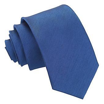 Navy Blue shantung Slim tie