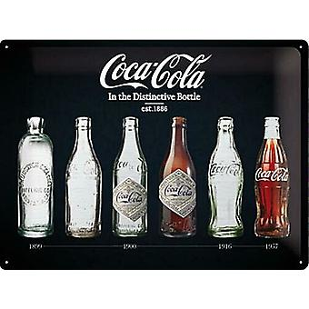 Coca Cola Bottle Evolution Special Edition large embossed steel sign  400mm x 300mm (na)