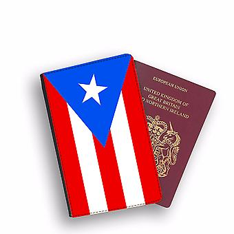 PUERTO RICO Flag Passport Holder Style Case Cover Protective Wallet Flags design
