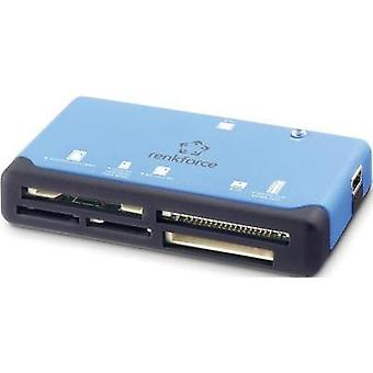 External memory card reader USB 2.0 Renkforce CR17e Blue