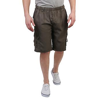 KRISP Plain Cotton Cargo Shorts