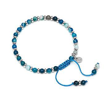 Lola Rose Compton armband blauw Perzisch Agaat
