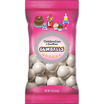Celebrations By Sweetworks Gumballs 8oz-Shimmer (TM) White CG74510