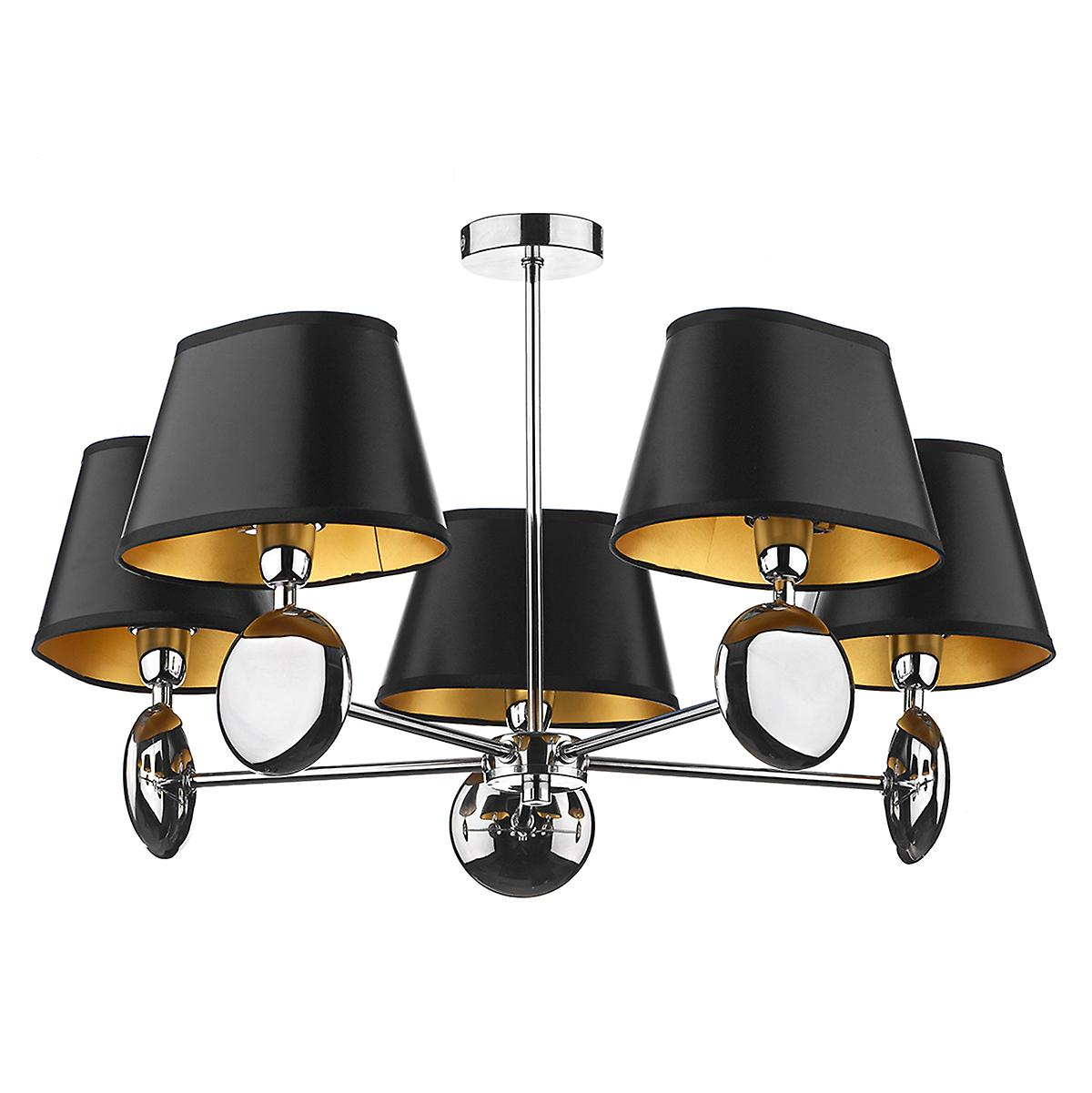 Dar LEX0550 Lexington 5 Arm Dual Mount Ceiling Pendant Double Insulated