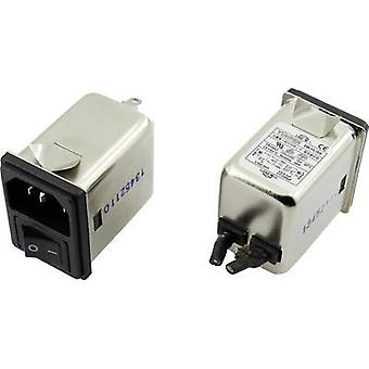 EMI filter + switch, + IEC socket 250 Vac 10 A 0.3 mH (L x W x H) 41.1 x 31.6 x 56 mm Yunpen YR10A3 1 pc(s)
