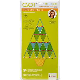 GO! Fabric Cutting Dies-Sparkle Jumbo Tree By Sarah Vedeler 55094