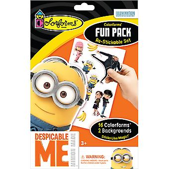 Colorforms(R) Fun Pack Re-Stickable Sticker Set-Despicable Me COLORFP-956