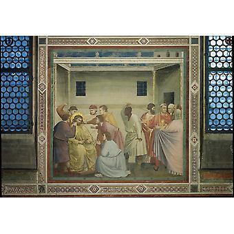キリストの鞭打ちのポスター印刷の生涯からの場面