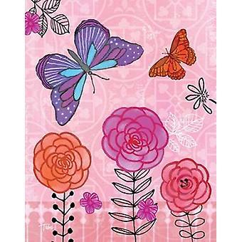 Butterfly Garden IV Poster Print by Teresa Woo