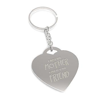 First My Mother Forever My Friend Key Chain Mothers Day Heart Shaped Key Ring