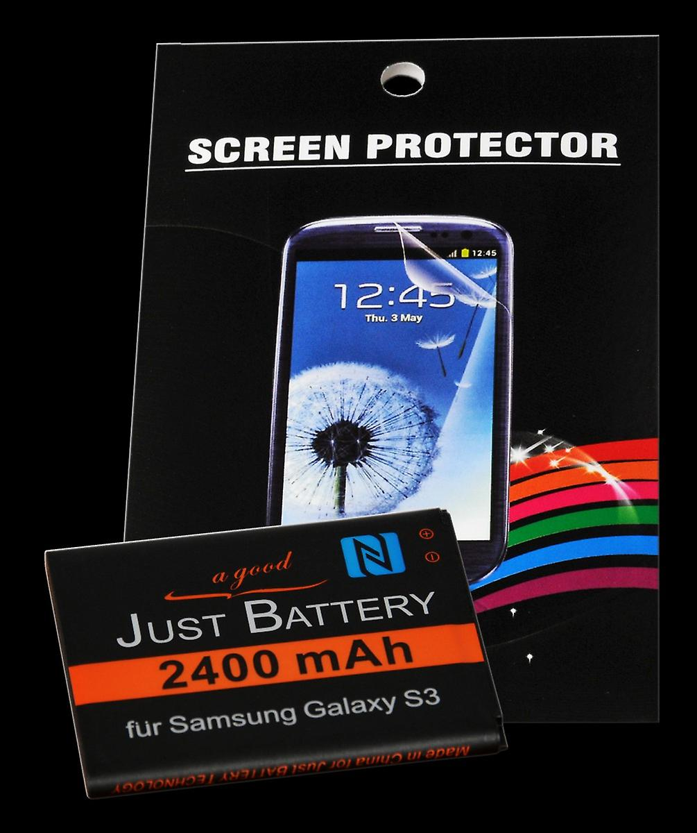 NFC battery + 4 x film for Samsung GT-i9300 Galaxy S3