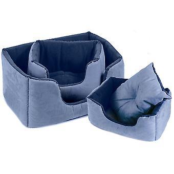 Chelsea Comfy Bed Blue Size 1 51x35cm
