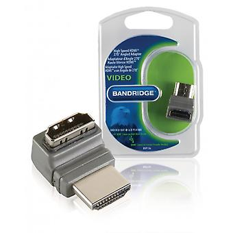 Bandridge High Speed HDMI with Ethernet Adapter-HDMI Connector 270Â ° Angled HDMI Female Grey