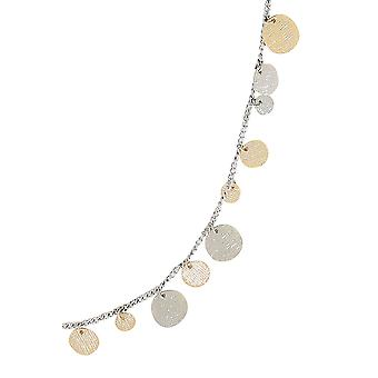 Gold & Silber lange Münze Halskette