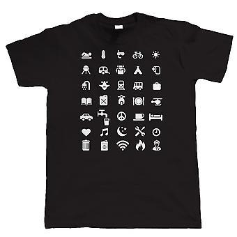 Reser ikonen T Shirt, Mens rolig T-Shirt