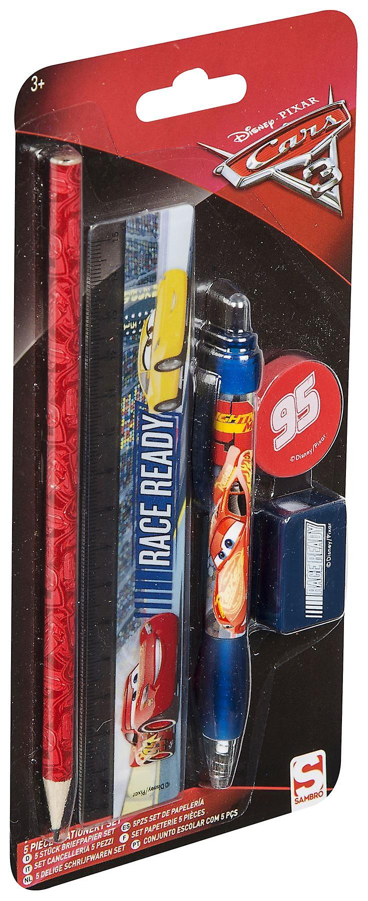 DISNEY CARS 3 | 5 Piece Stationery Set
