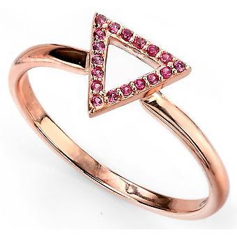 925 Silber Rotgold plattiert Zirkonia Ring Trend und