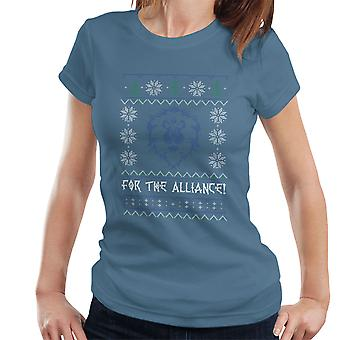 World Of Warcraft Alliance Lion Christmas Knit Women's T-Shirt