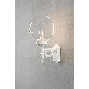 Konstsmide Orion White Outdoor Wall Lantern And Globe