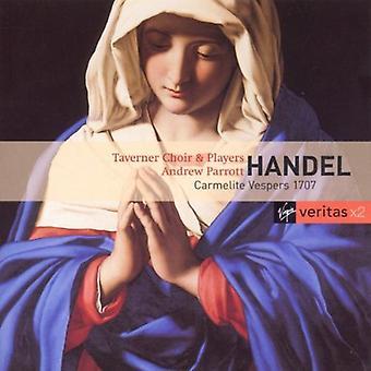 Andrew Parrott - Händel: Carmelite Vespers 1707 [CD] USA import