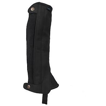 QHP Adult Black Suede Chaps (Horses , Rider equipment , Clothes , Leggings and chaps)