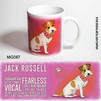 Original Metal Sign Co Mug Jack Russell