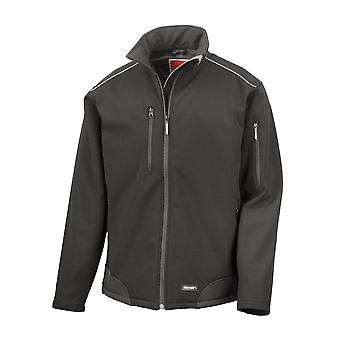Result Mens Ripstop Soft Shell Breathable Weatherproof Jacket