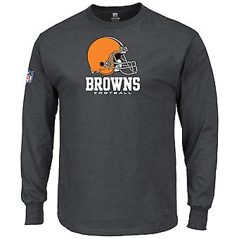Charcoal majestic OUR TEAM Longsleeve - Cleveland Browns