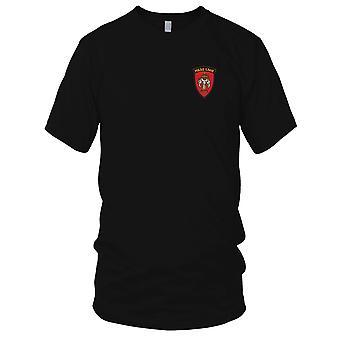 Adviesgroep voor militaire hulp Laos geborduurd Patch - T damesshirt