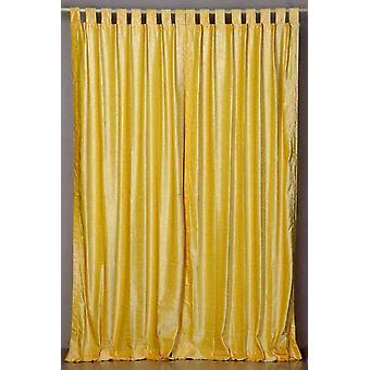 Jaune rideau de velours haut de la page d'onglet / Drape / panneau - pièce