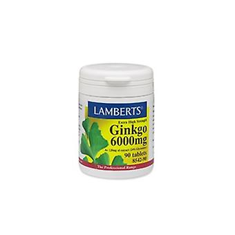 Lamberts Ginkgo 6000mg Extra High Strength, 180 tablets