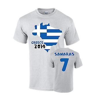 Griechenland 2014 Country Flag T-shirt (Samaras 7)