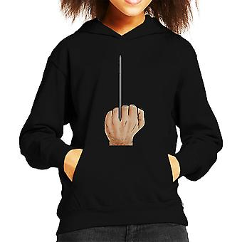 Wolverine Giving The Finger X Men Kid's Hooded Sweatshirt