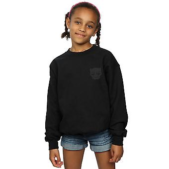 Marvel Girls Black Panther zwart op zwarte Pocket Print Sweatshirt