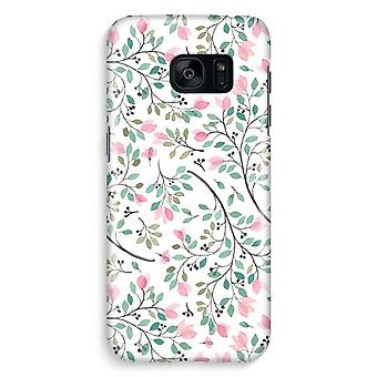 Samsung S7 Edge Full Print Case - Dainty flowers