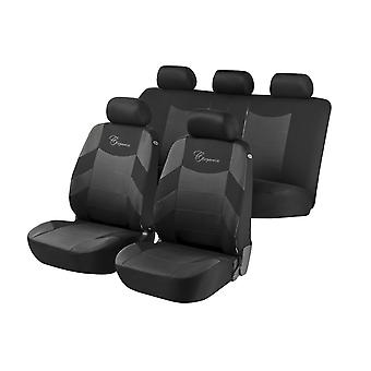 Elegance Car Seat Cover Grey &, Black For Toyota COROLLA FX Compact 1984 to 1988