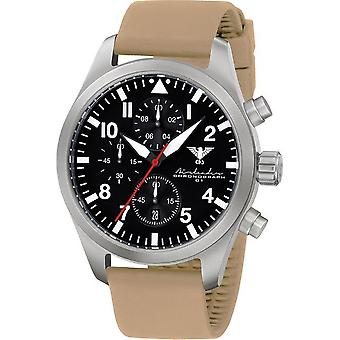 KHS mens watch Airleader Steel Chronograph KHS. AIRSC. ST