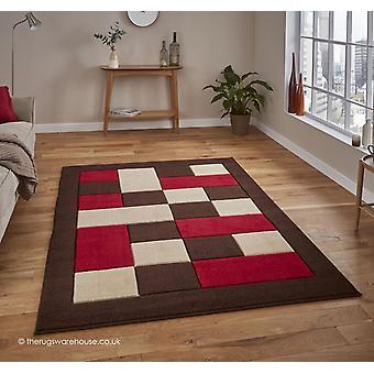 Sutur brun röd matta