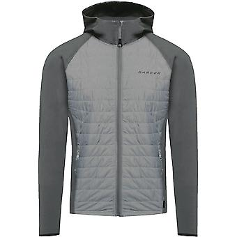 Dare 2b Mens Midway Warm Marl Stretch Insulated Hybrid Hooded Jacket