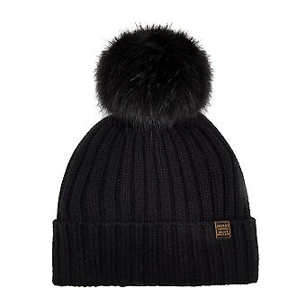 Joules Womens/Ladies Popperpom Pompom Cable Knit Beanie Winter Hat