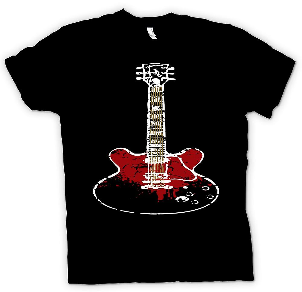 Mens T-shirt - Gibson SG Guitar Rock Blues Music