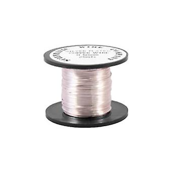 1 x Silver Plated Copper 1.5mm x 1.75m Round Craft Wire Coil W2150