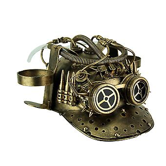 Metallisk messing Vintage Baseball hjelm Steampunk Cup Holder lue