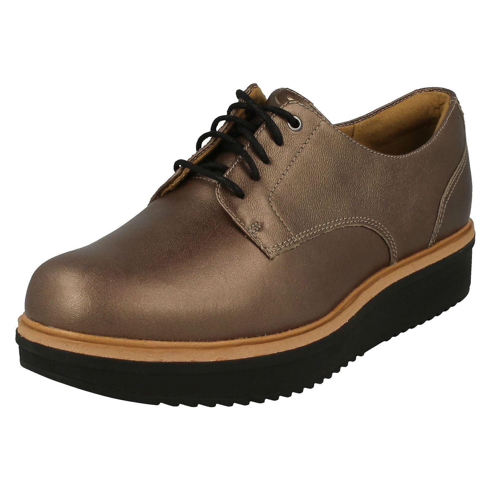 Brogue 5M Size UK 6D 39 Clarks 8 Leather Rhea Size Ladies Shoes 5 US EU Size Style Pewter Teadale 5Fqx77Uw