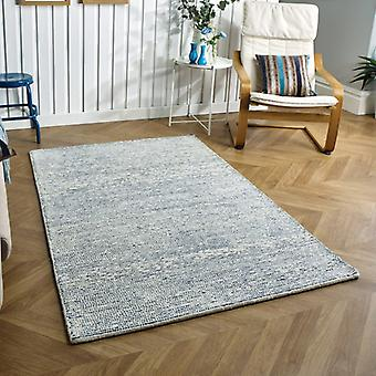 Milano Blue  Rectangle Rugs Plain/Nearly Plain Rugs