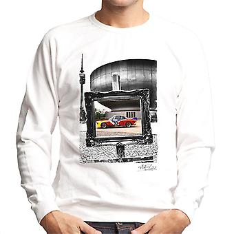 BMW Art Car Calder Black And White Frame Men's Sweatshirt
