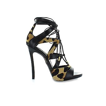 DSQUARED2 BINDE MIG SORT ANIMALIER SANDAL
