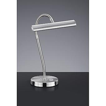 Trio oświetlenie Curtis Modern nikiel matowy Metal Lampa stołowa