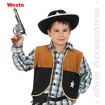 Sheriff kids costume wild west cowboy vest, cowboy costume children costume