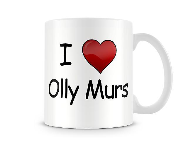Amo la tazza stampata Olly Murs